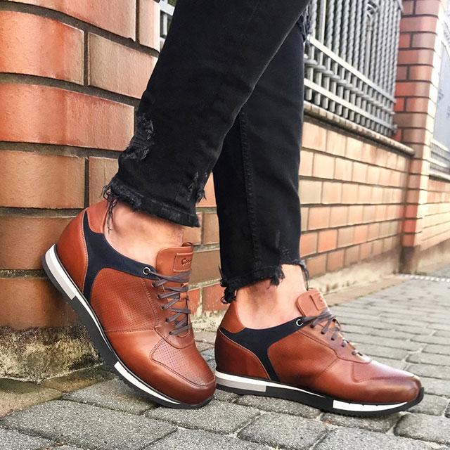 Modne sportowe buty podwyższające dla mężczyzn